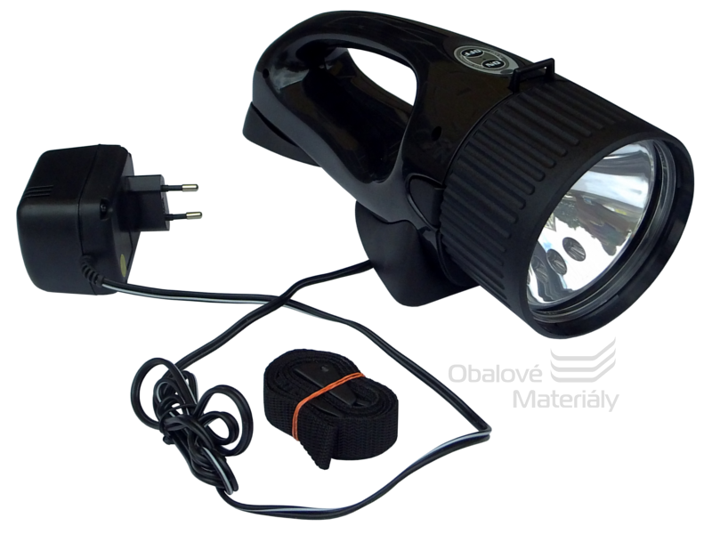 Svítilna duální nabíjecí Li-Ion/NiCd - DL 306 (Black) - Halogen + LED
