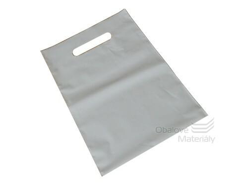 PE tašky s průhmatem 200*300*0,055 mm - bílá (bal.50ks)