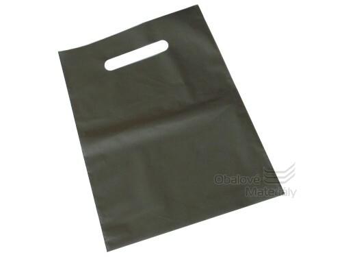 PE tašky s průhmatem 200*300*0,055 mm - stříbrná (bal.50 ks)