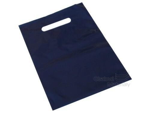 PE tašky s průhmatem 200*300*0,055 mm - tmavě modrá (bal.50ks)