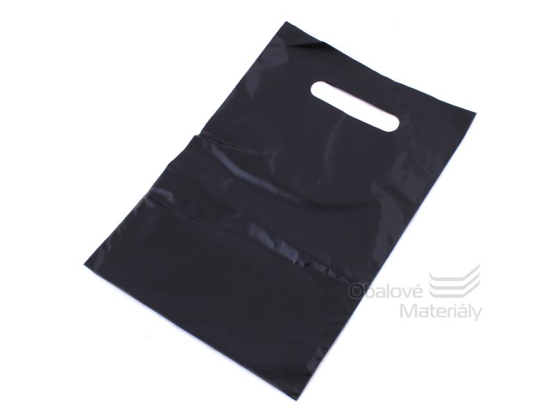 Taška LDPE 38*45+5 cm průhmat HNĚDÁ, cena za 1 kus