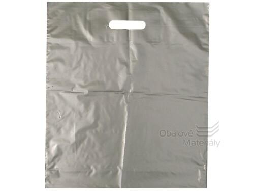 Taška LDPE 38*45+5 cm průhmat ŠEDÁ, cena za 1 kus