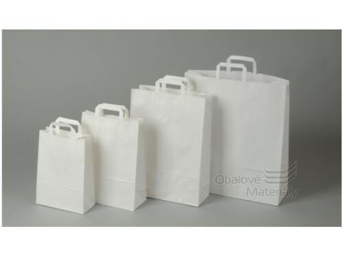 Taška 32*13*42,5 cm, bílý kraftový papír 80 g
