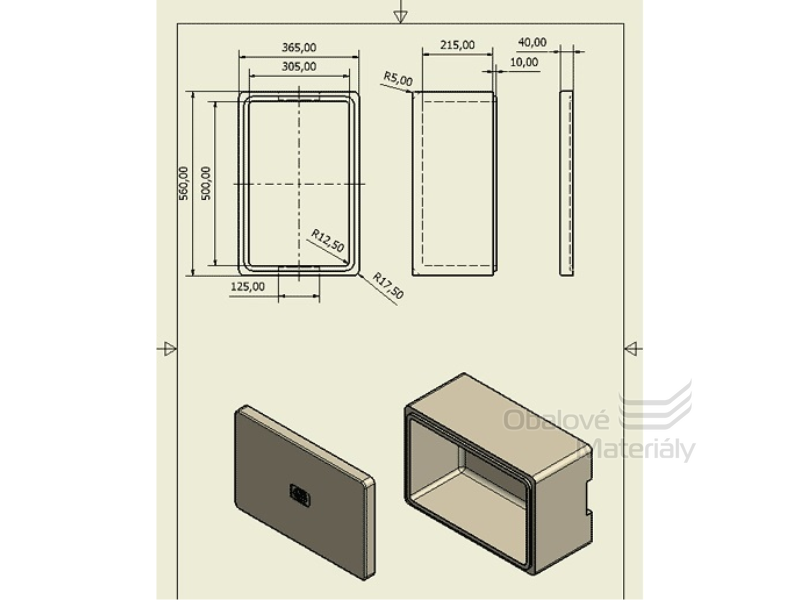 Termobox na jídlo 560*365*265 mm, polystyren