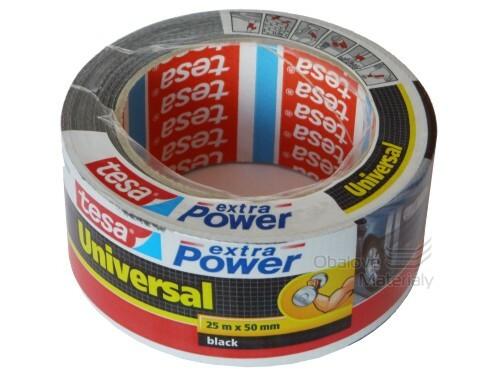 Textilní páska 50 mm * 25 m Extra Power - černá