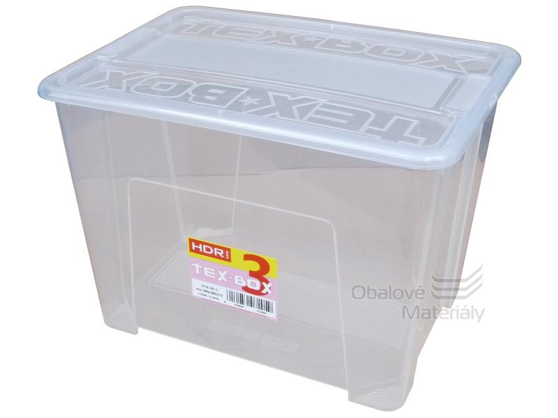 Úložný TEX BOX s víkem 380*280*272 mm, 21 l