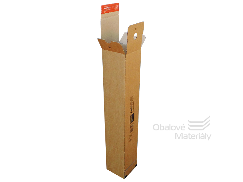 Tubus krabicový QUATTROPACK 610*108*108 mm, samolepící klopy