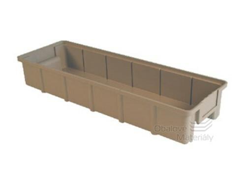 Plastová ukládací bedna, 600*200*100 mm