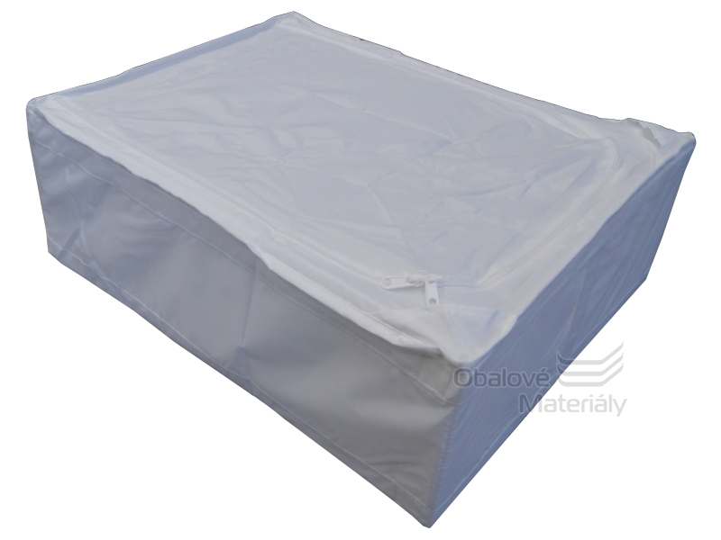 Úložný box pod postel, látkový, 440*550*190 mm, bílý, 45 l