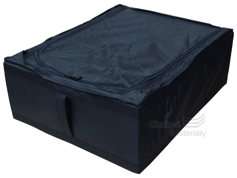 Úložný box pod postel, látkový, 440*550*190 mm, černý, 45 l