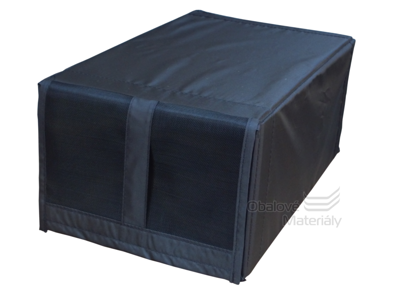 Úložný box na boty - látkový s oknem, 220*340*160 mm, černý, 12 l