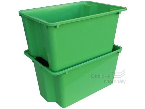 Úložný box, zelený, 380*275*195 mm, stohovatelný, 20l