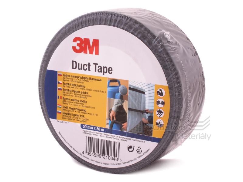 Universální páska 3M - 50 mm * 50 m, Duct Tape  - černá