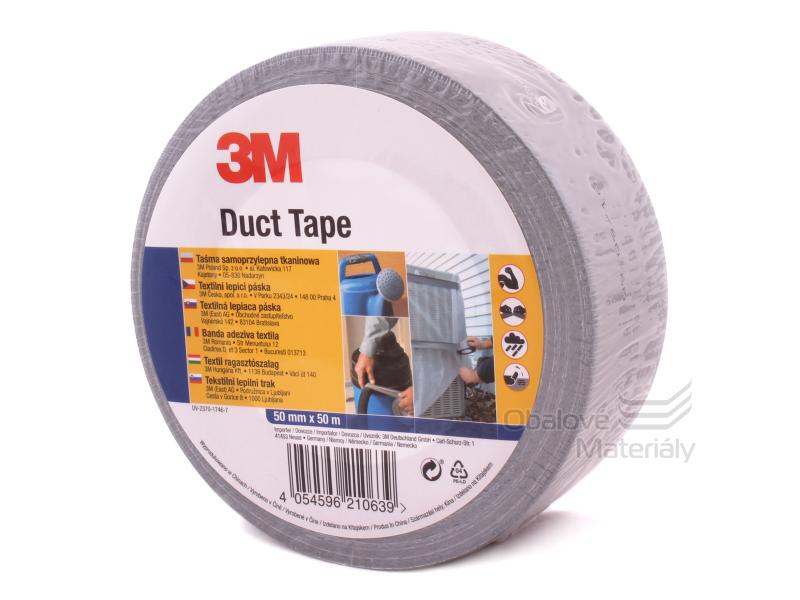 Universální páska 3M - 50 mm * 50 m, Duct Tape  - stříbrná