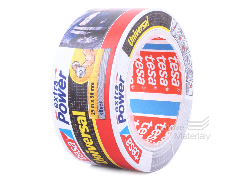 Textilní páska 50 mm * 25 m Extra Power - stříbrná