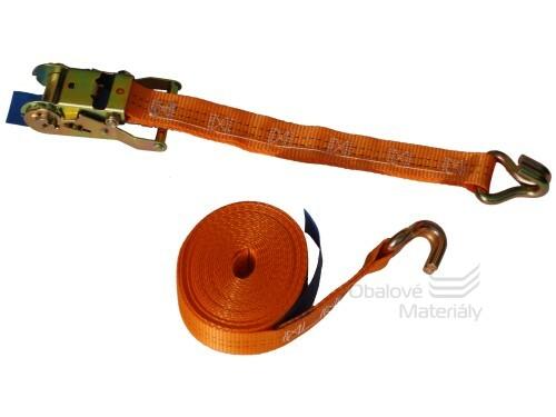 Upínací popruh s ráčnou, 2t*8m, oranžový