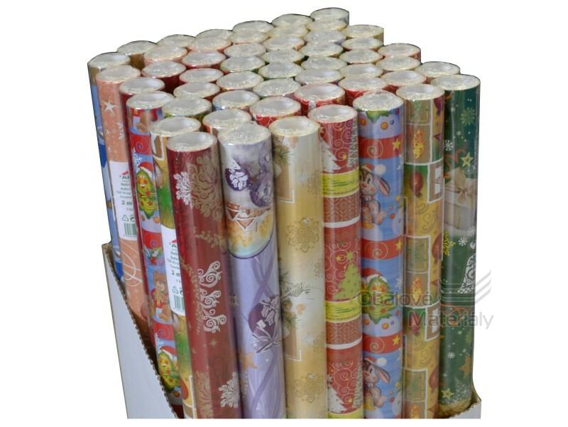 Vánoční balící papír 70*500 cm, různé motivy