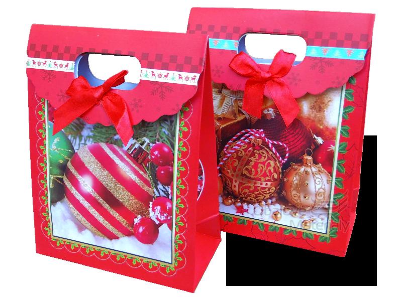 """Dárková taška vánoční, """"MALÁ"""" elegantní design, 16*12*6 cm"""