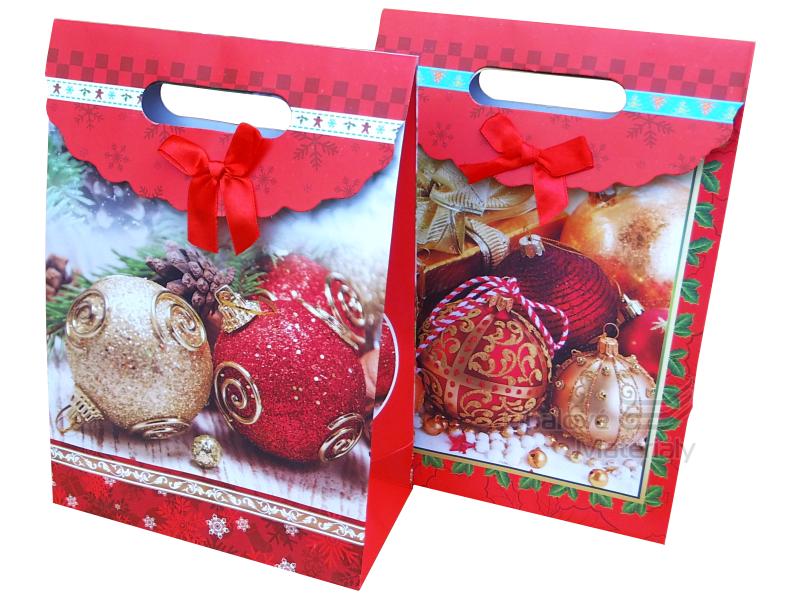 """Dárková taška vánoční, """"STŘEDNÍ"""" elegantní design, 27*19*6 cm"""