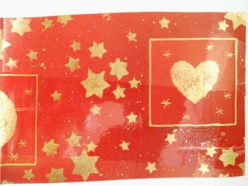 Vánoční papír, červený, 70*100cm