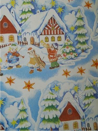 Vánoční papír, dětský motiv, 70*100cm