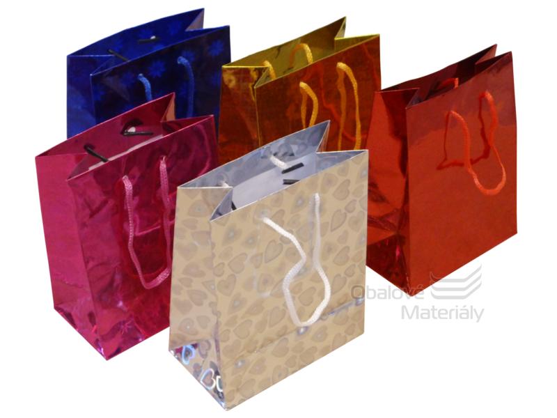 Dárková taška 14,5*11,5*6,5 cm, různé barevné varianty