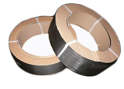Vázací páska PP 12*0,50 mm, dutinka 400 mm, černá, 3000 m