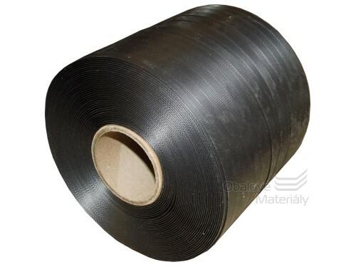 Vázací páska PP 10*0,4 mm, dutinka 60 mm, černá, 900 m