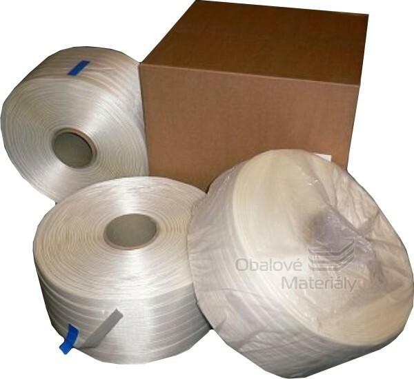 Vázací páska PES WG 40 šíře 13 mm, dutinka 60 mm, 500 m