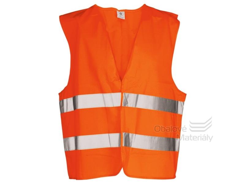 Výstražná reflexní vesta ČSN EN ISO 20471, žlutá/oranžová, velikost XL, XXL