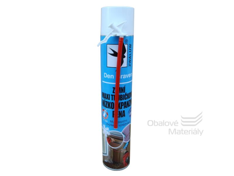 ZIMNÍ (-15°C) maxi trubičková nízkoexpanzní montážní pěna 825 ml