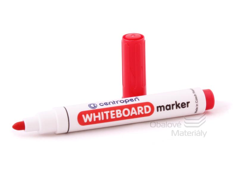 Značkovač Centropen 8559/1 -  WHITEBOARD červený