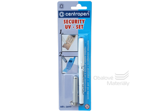 SECURITY UV-SET Centropen 2699/1 - Popisovač + UV lampička
